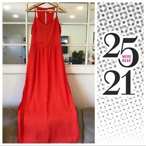 Dresses & Skirts - Red/orange maxi dress with cut outs